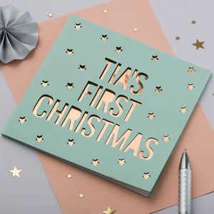 Personalised Papercut Christmas Card