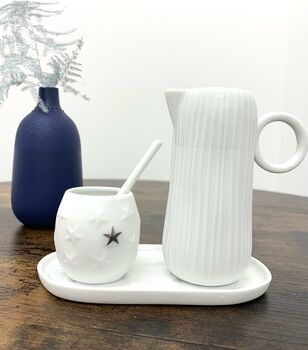 Stars And Stripes Milk And Sugar Serving Set