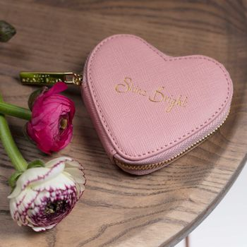 'Shine Bright' Soft Pink Coin Purse