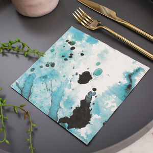 Water Colour Splash Napkins - decoration