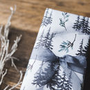 Watercolour Forest Christmas Wrapping Paper