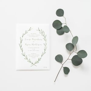 Cupid Natural Wedding Invitation - invitations