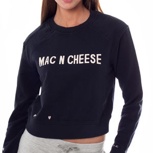 Mac N Cheese Slogan Sweater
