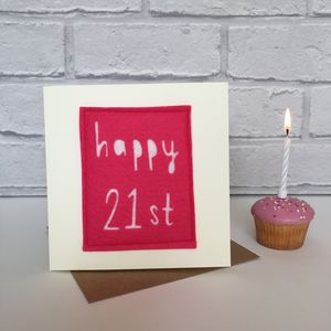 Happy 21st Birthday Milestone Card - birthday cards