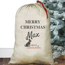 Personalised Christmas Pet Sack Dog Or Cat