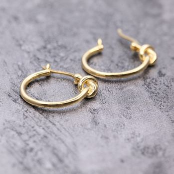 Gold Plated Knotted Ear Hoops