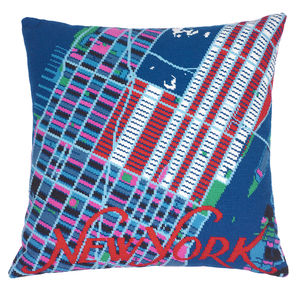 Contemporary New York America City Map Tapestry Kit