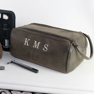 Mens Personalised Wash Bag And Towel