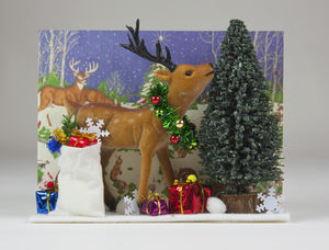 Santa's Reindeer Personalised Christmas Card