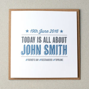 Hashtag Personalised Father's Day Card
