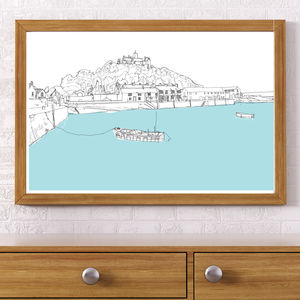 St Michael's Mount, Cornwall Signed Print