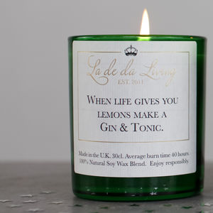 Luxury Gin And Tonic Candle - candles & home fragrance