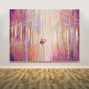 Manifestation…Deer In A Winter Forest