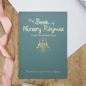 Personalised Nursery Rhyme Book And Gift Box - books