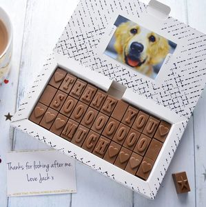 Personalised Chocolate Gift In A Large Box - foodies
