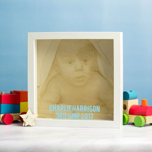 Personalised Engraved Baby Photo Frame