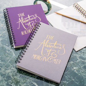 'The Adventures Of' Personalised Memory Book - notebooks & journals