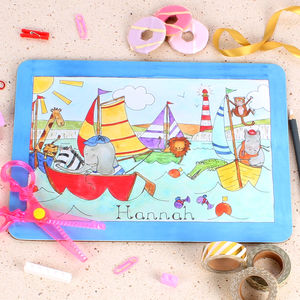 Sailing Boats Placemat - kitchen
