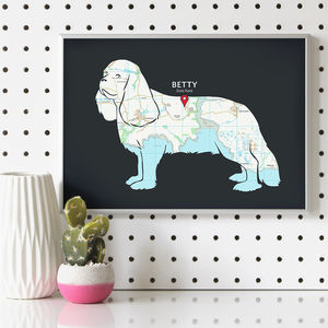Personalised Cavalier King Charles Spaniel Map