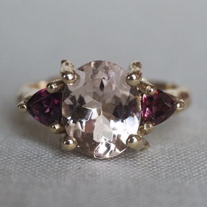 Solid Gold One In A Trillion Morganite And Tourmaline - rings