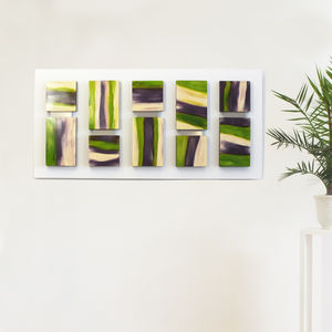 'Everglade' Brushstroke 3D Abstract Wood Block Art - modern & abstract