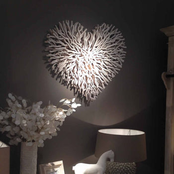 Large White Twig Wall Heart By Cowshed Interiors