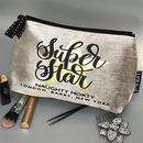 Personalised Motivational Quotes Chenille Makeup Bag