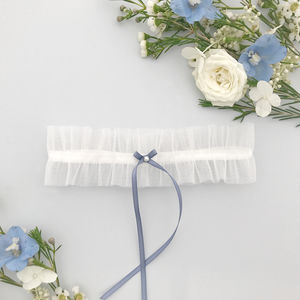 Tulle Wedding Garter In Ivory - lingerie & nightwear