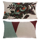 Japanese Inspired Kyoto Floral Bolster Cushion