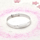 Personalised Sterling Silver Christening Bangle