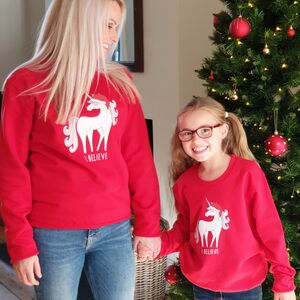'I Believe' Childrens Christmas Jumper