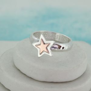Personalised Gold Star Ring