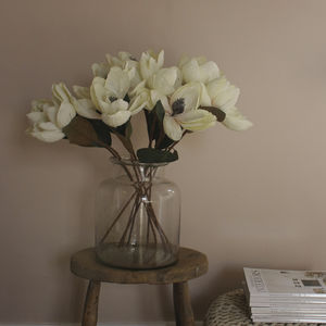 Pearlised Faux Magnolia Stem - home accessories