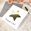 Personalised Metallic Gold Star Card