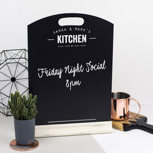 Personalised Kitchen Chalkboard - gifts for him