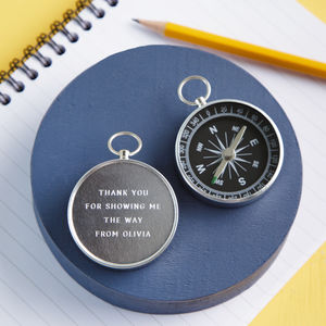 Personalised Engraved Thank You Teacher Compass - shop by price