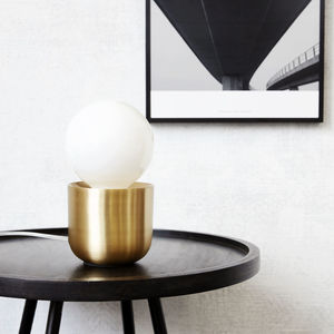 Brass Table Lamp - table lamps