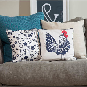 Rooster Cushion - patterned cushions