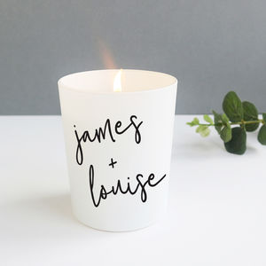 Personalised Christmas Scented Candle - candles & home fragrance