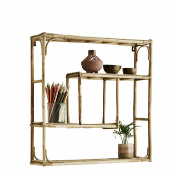 Natural Vintage Bamboo Shelf