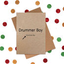 Funny Christmas Card: Little Drummer Boy