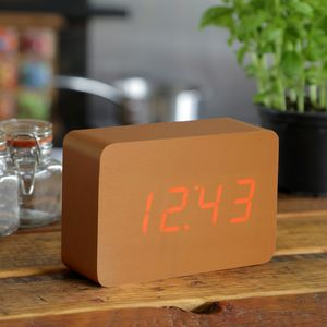 Brick Copper Click Clock - decorative accessories
