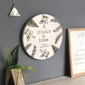 Wooden Engraved Wedding Wall Plaque