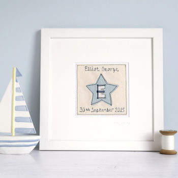 Personalised Initial Star Picture Gift For Boys