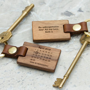 Personalised Never Forget Calendar Keyring - view all father's day gifts