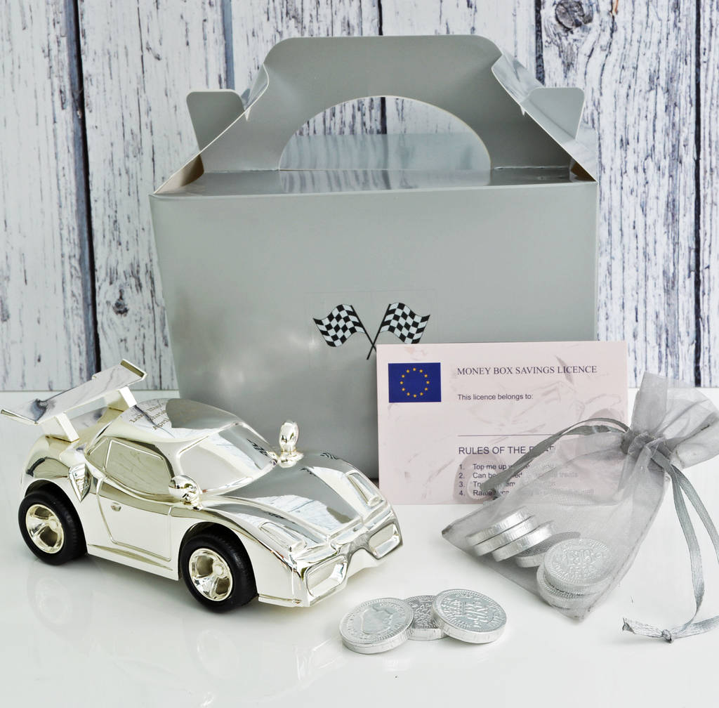 personalised car money box by me and my car | notonthehighstreet.com