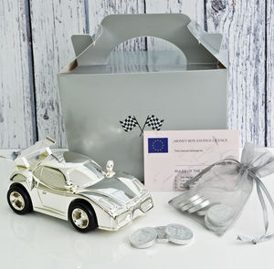 Personalised Car Money Box - christening gifts