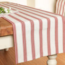 French Country Red Striped Table Runner