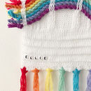 Personalised Rainbow Wall Hanging