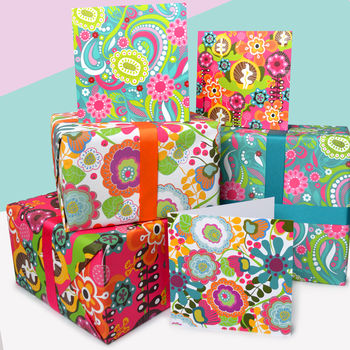 Bloom Gift Wrap and Card Set